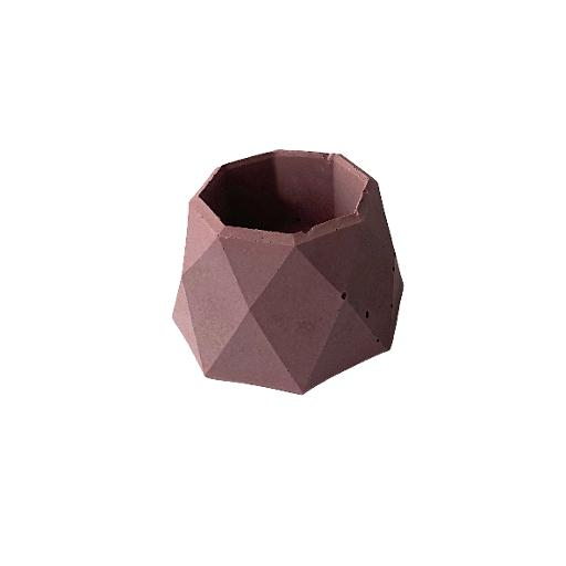 Mauve Concrete Geo Tealight Holder