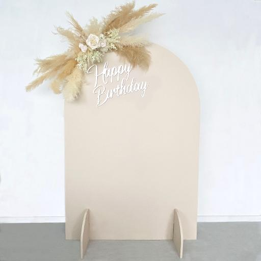 6ft Eleanor Beige Birthday Backdrop Kit