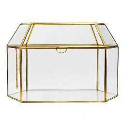 Geometric Gold Card Box