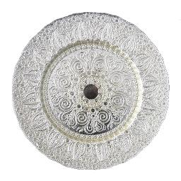 Silver Pearl Glass Charger Plate