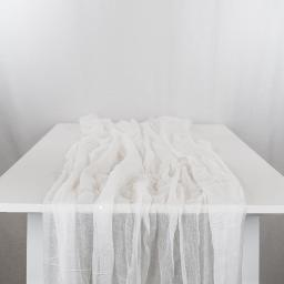 White Cheesecloth Runner