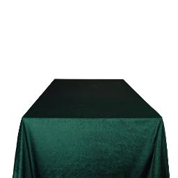 Green Velvet Tablecloth