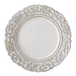 White Aristocrat Charger Plate