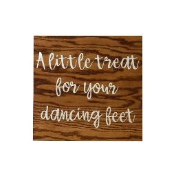 Small Wood Sign - Dancing Feet