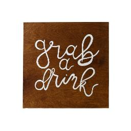 Small Wood Sign - Drinks