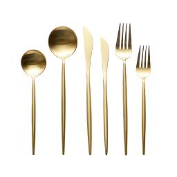 Lisbon Gold 6 Piece Flatware Set