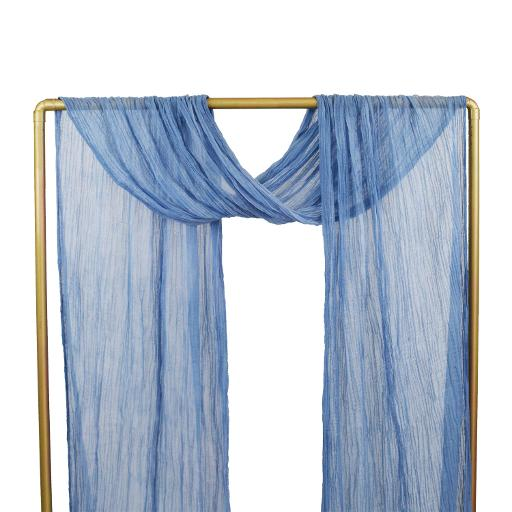 Provence Blue Cheesecloth Drape