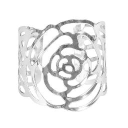 Rose Napkin Ring - Silver
