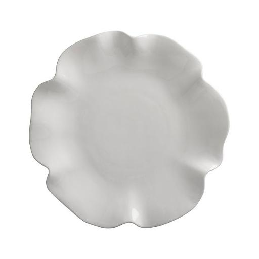 White Ruffle Serving Tray