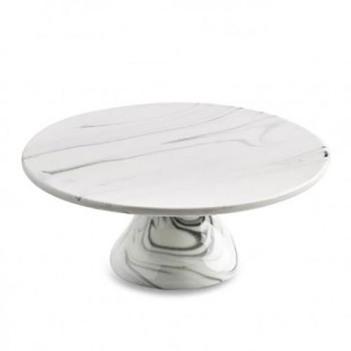 "Faux Marble 8"" Cake Stand"
