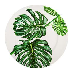 Monstera Charger Plate