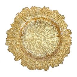 Sunburst Gold Glass Charger Plate
