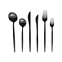 Lisbon Black 6 Piece Flatware Set