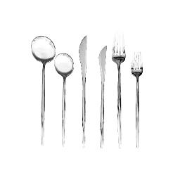 Lisbon Silver 6 Piece Flatware Set