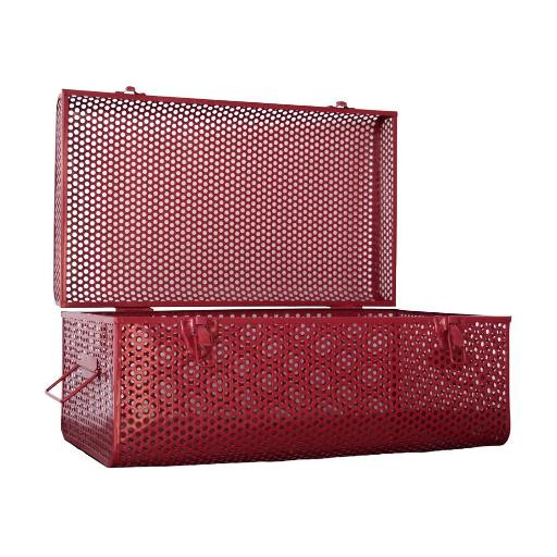 Large Metal Case - Red