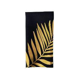 Gold Palm Poly Napkin - Black